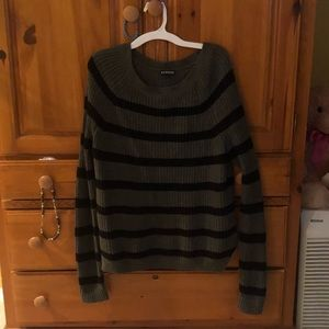 Express stripped long sleeve sweater